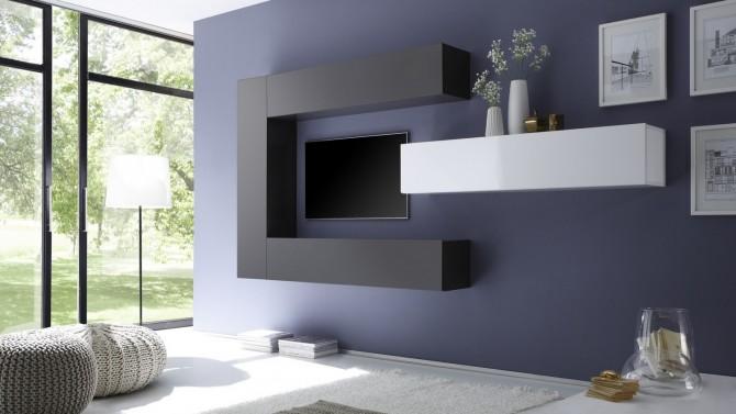 ensemble meuble tv moderne avec colonnes de rangement manoj gdegdesign