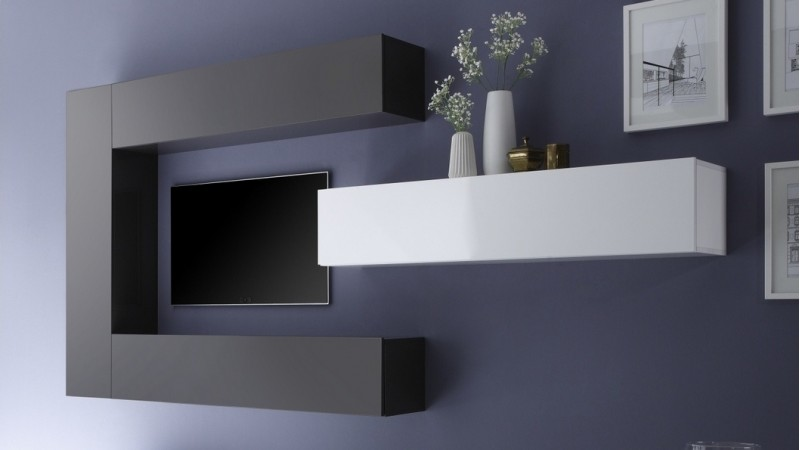 meuble tv moderne avec colonnes