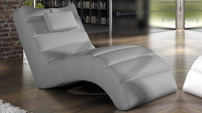 chaise longue fauteuil relax simili cuir huw