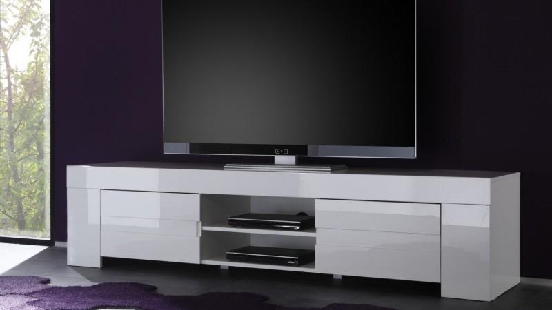 banc tv design 2 portes avec etagere