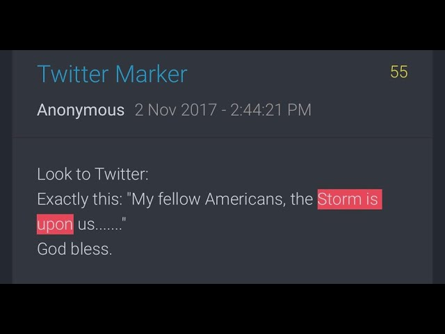 """Der Sturm: """"My fellow Americans, the storm is upon us… God bless"""""""