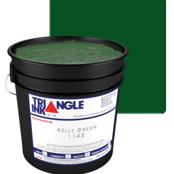 Triangle Ink Kelly Green by GDM Graphics