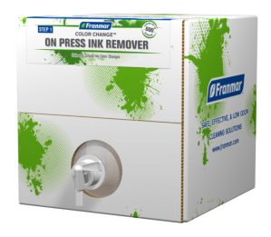 Franmar 5-Gallon Color Change On Press Ink Remover available at GDM Graphics