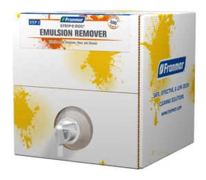 Franmar 5-Gallon Strip-e-Doo Emulsion Remover available at GDM Graphics