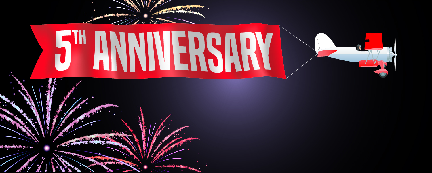5th Anniversary of GDM Graphics Thanks to All Our Customers