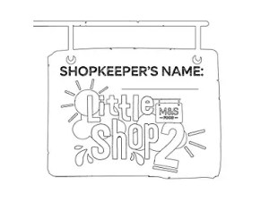 little shop colouring in
