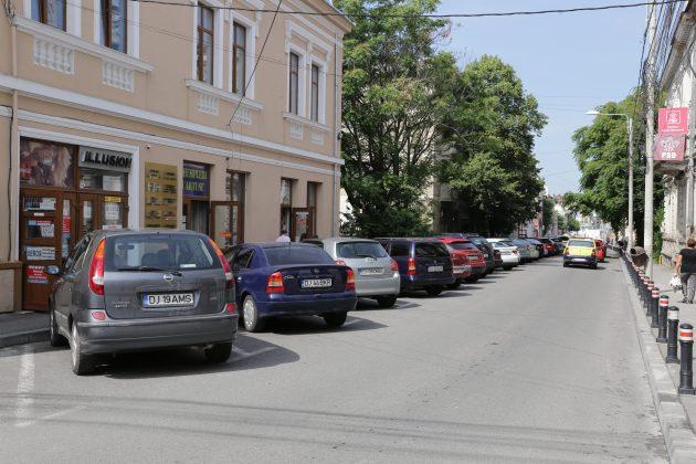 Parcările cu plată de pe strada Mihail Kogălniceanu