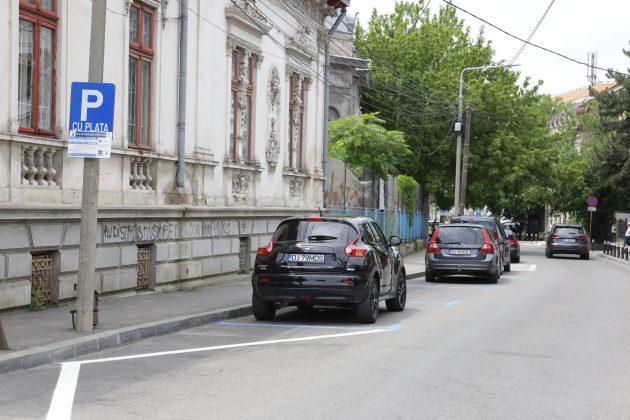 Parcările cu plată de pe strada Eugeniu Carada