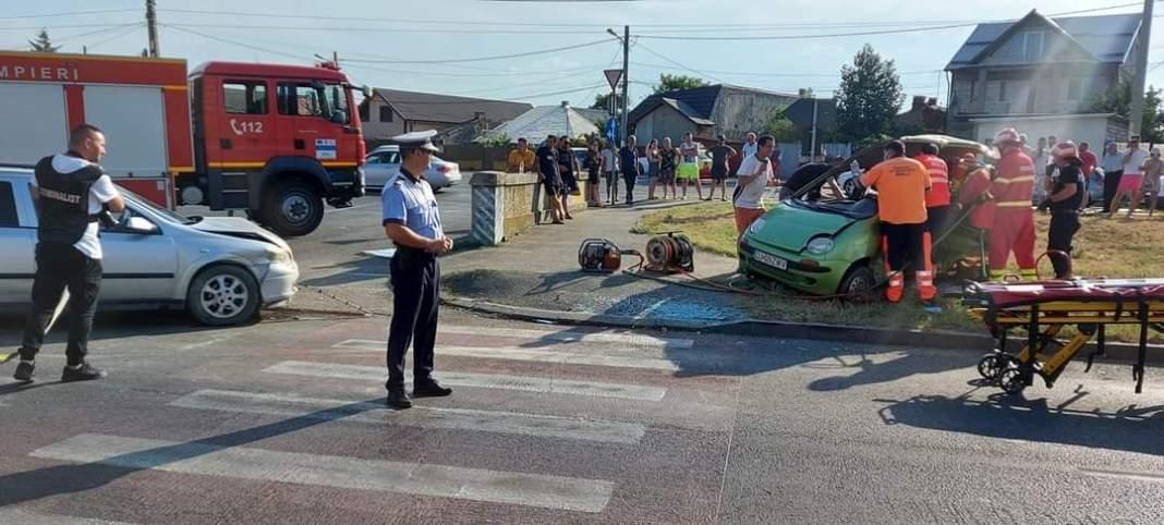 Un șofer de 84 de ani a provocat un accident pe strada Râului din Craiova (Foto: Info Trafic Craiova și Dolj)
