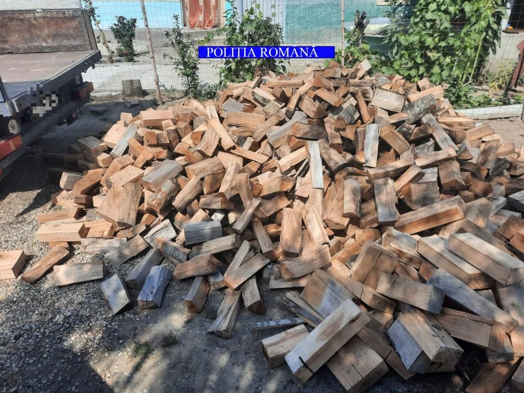 Cantitatea de 2,34 mc material lemnos specia fag, confiscată