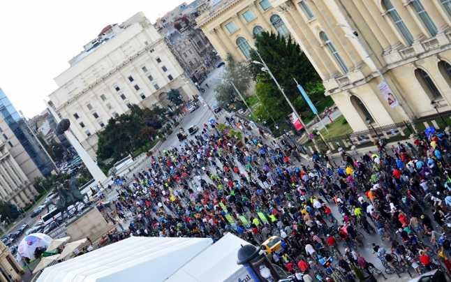 """Protest al bicicliştilor din Capitală, sub sloganul """"Vrem oraşe pentru oameni"""""""