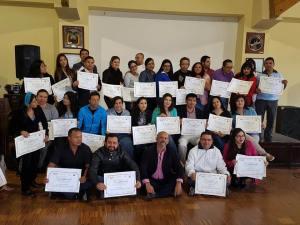En la ciudad de Quito, el 7 de Agosto del 2016 fueron certificados nuevos profesionales en Grafologia