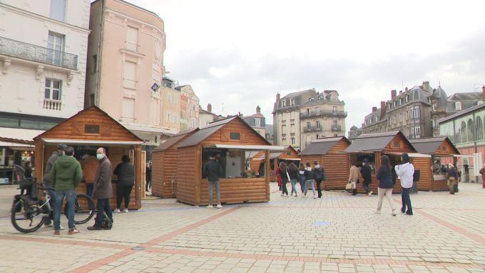 À Limoges, les chalets de Noël ressortis pour créer un