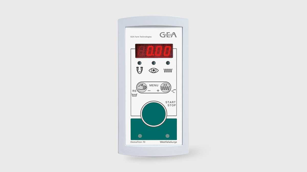 GEA Milking control units simplify the milking routine, take on milk metering and milking cluster removal.