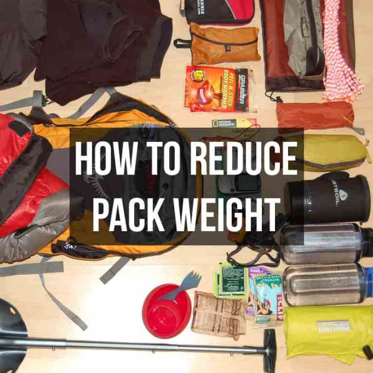 How to reduce pack weight