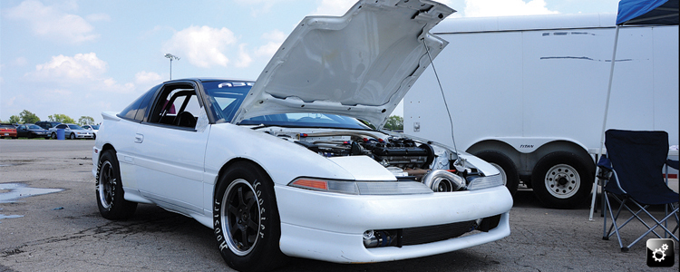 That has to be the cleanest hood we've ever seen on a DSM.