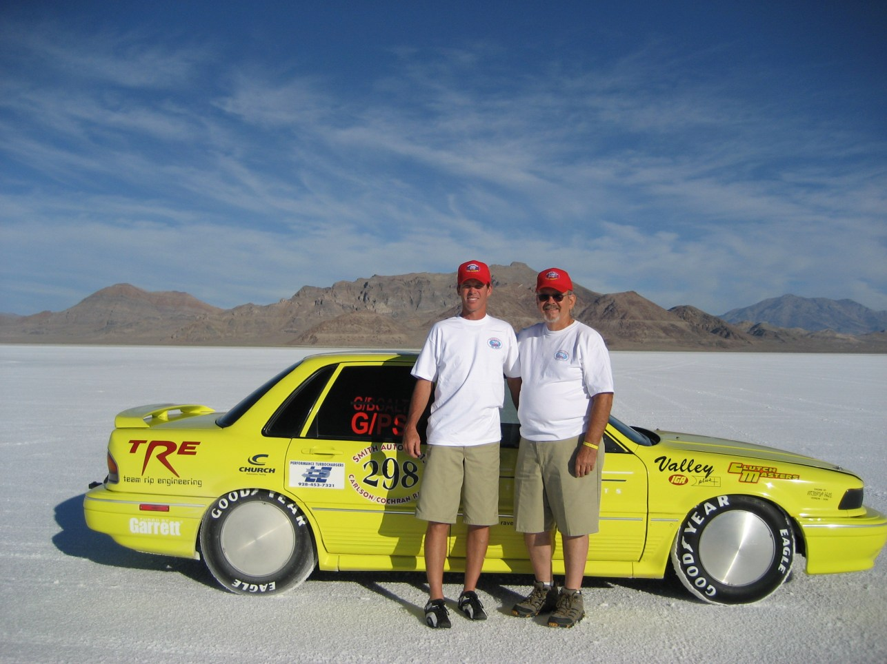 Ron and Troy Cochran with the fastest Galant VR4 in the world