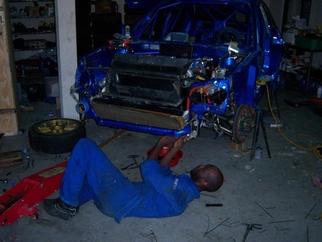 subaru rally night service