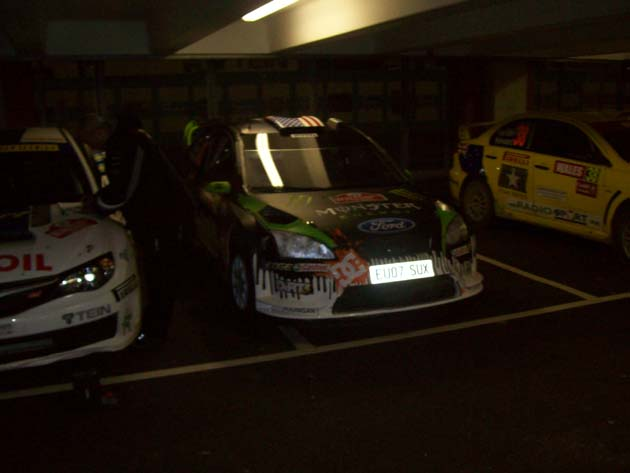 Ken Block's Ford at Wales Rally GB