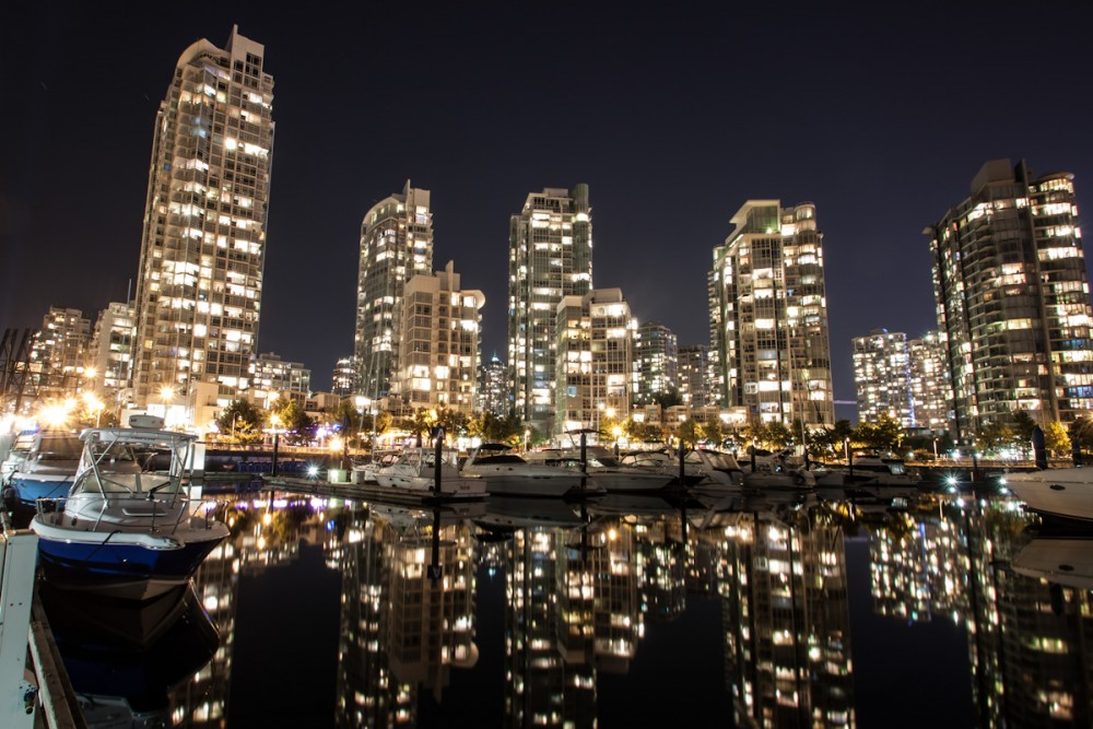 Portland skyline at night