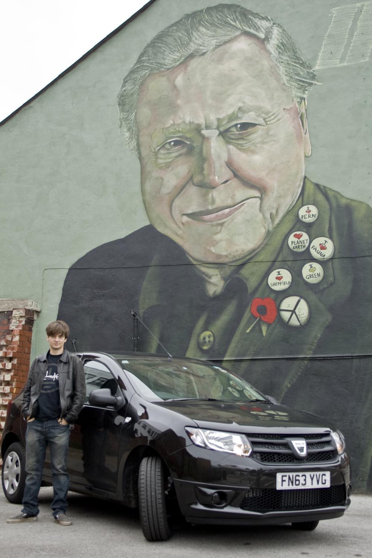Alex Waller and his Dacia Sandero