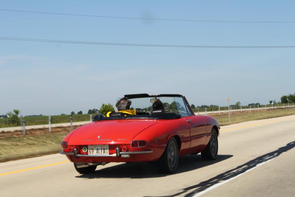 '69 1750 Spider Veloce on the road