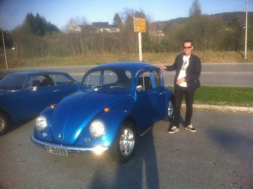 Hans and his 66 Volkswagen Beetle
