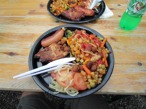 Rally food in Finland. Is it any wonder they have thousands of spectators?