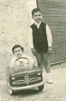 My brother Sal and I in my Giulietta Pedal Car 1964