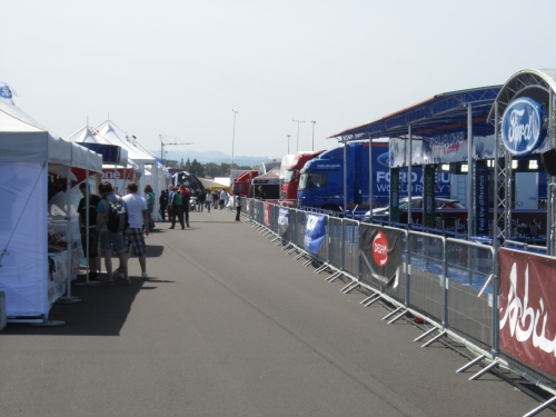 A quiet moment in the service park at Sardinia 2011.
