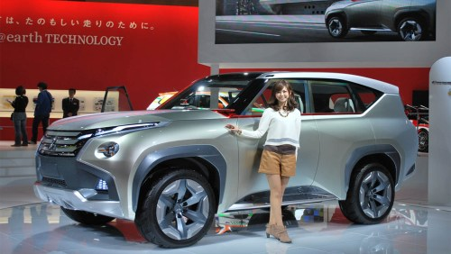 Mitsubishi promises to deliver even more plugin hybrid and electric vehicles, like this GC-PHEV concept from Tokyo 2013.   image: House of Japan