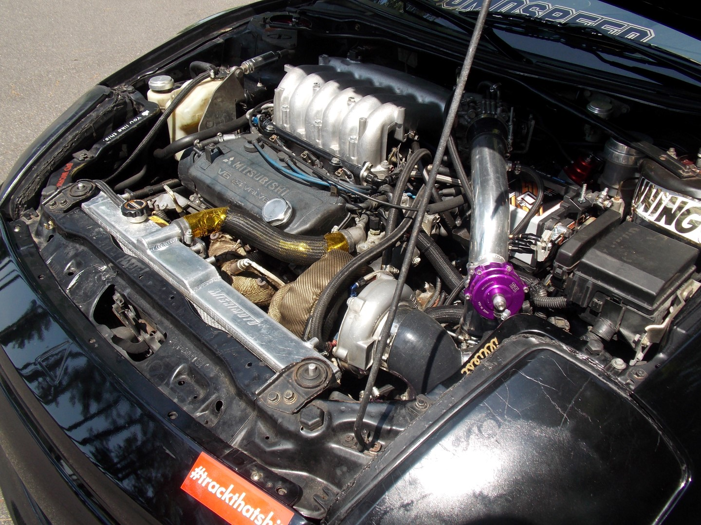 Tavorious tried the popular supercharger setup, but soon opted for a more efficient turbocharger.