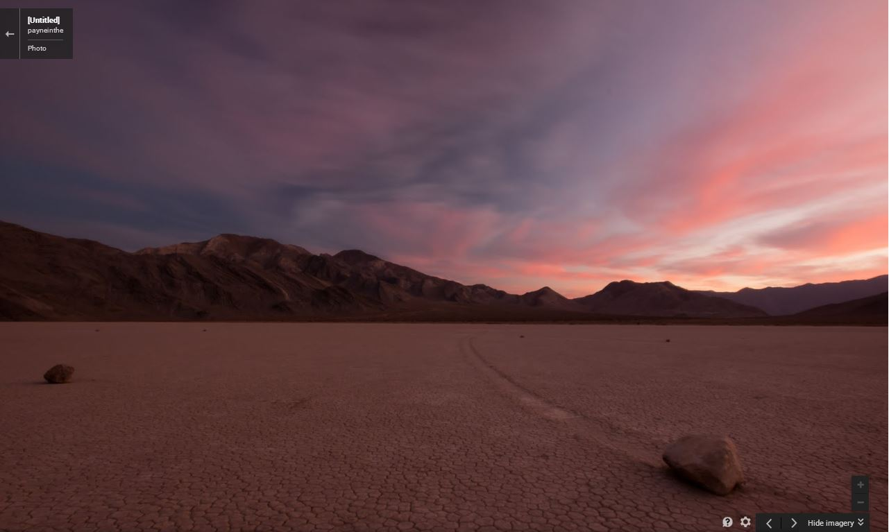 Racetrack playa at sunset. | image: dude, via Google Maps