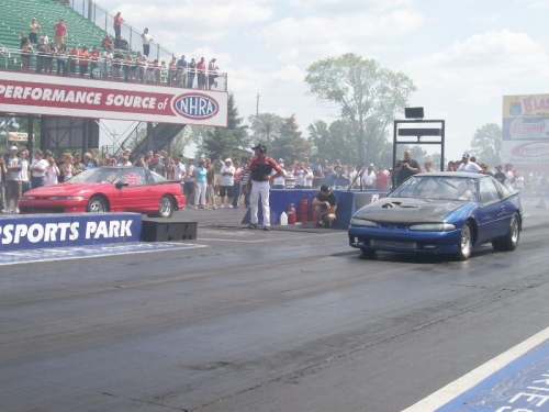 Scott Glassbrook squares off against Kevin Jewer at the 2008 DSM/EVO Shootout.