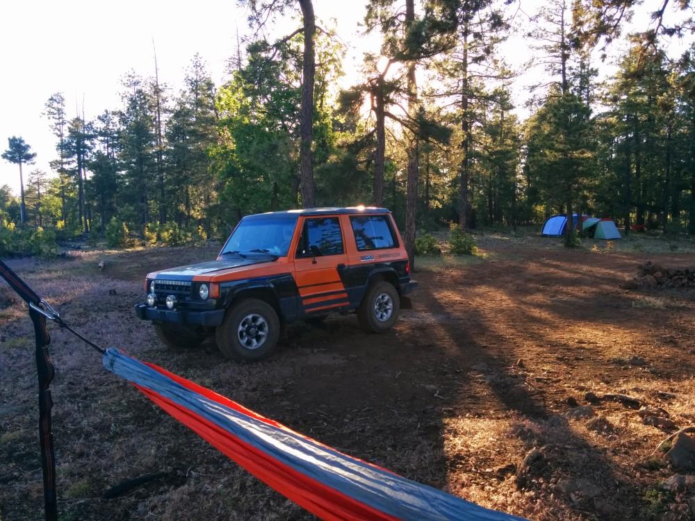 mitsubishi pajero camping