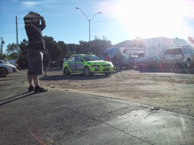 mitsubishi lancer evo rally car
