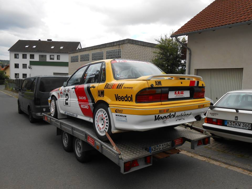 Rally winning Galant VR4 at Elbetreffen