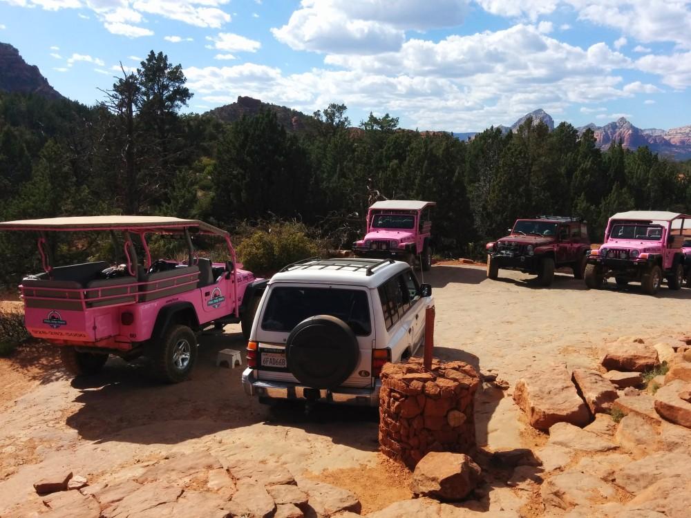 sedona pink jeeps mitsubishi montero pajero shogun