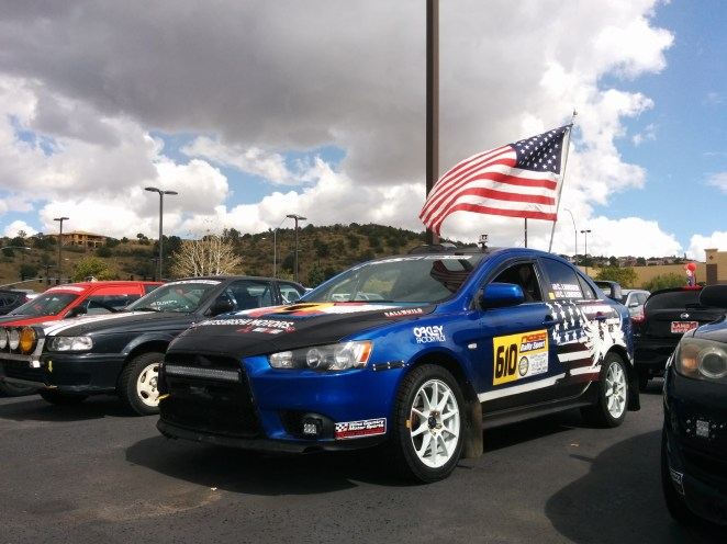 A Mitsubishi actually finished at Prescott this year