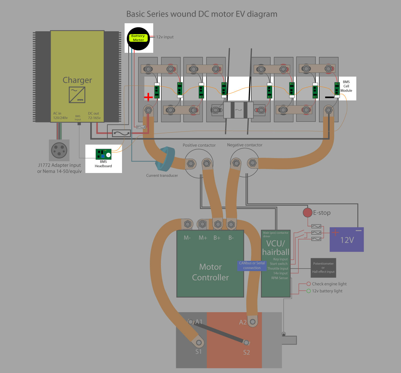 The Wiring Diagram Supplied With My Bms Interest T 20 1s4p 18650 37v Holder Case Battery Liion Pcm Protection Circuit Daves Diy Ev Conversion