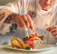 Rock A Belly Embroidered Chef Coat