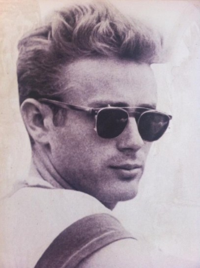James Dean Sporting Aviators