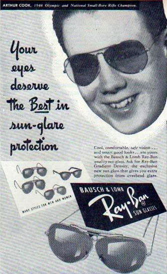 RayBan Aviator Advertisement