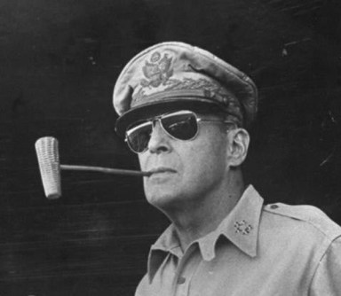 This is the pic that brought the Aviator into the Lime Light. General Douglas MacArthur, World War II.