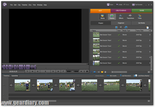 adobe premiere user interface