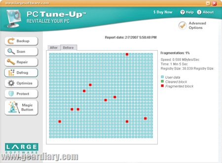 Screenshot - defrag screenshot (by Large Software)