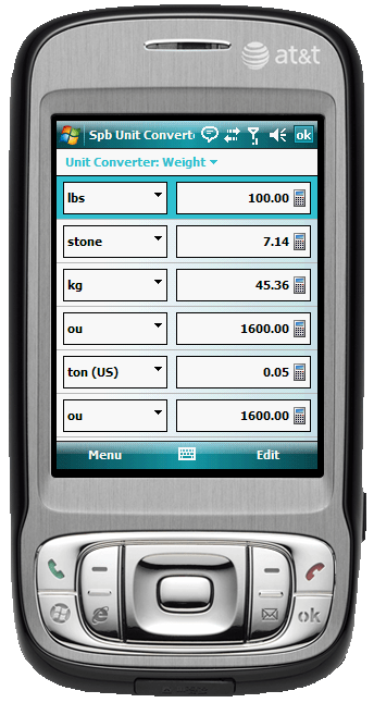 Figure 14:  The Units Converter tool in Spb Traveler