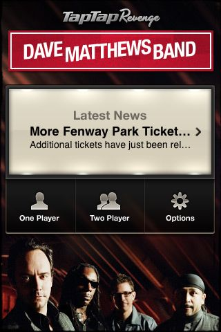 Review:  Tap Tap Revenge - Dave Matthews Band  Review:  Tap Tap Revenge - Dave Matthews Band