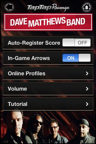 Review:  Tap Tap Revenge - Dave Matthews Band  Review:  Tap Tap Revenge - Dave Matthews Band  Review:  Tap Tap Revenge - Dave Matthews Band