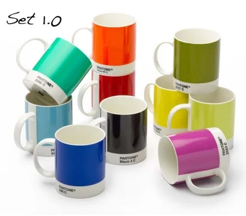 Pantone coffee mugs are perfect for graphics geeks